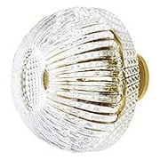 Lead-Free Fluted Round Crystal Knob with Solid Brass Base (item #RS-08CCC-G248X)