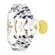 Lead Free German Crystal Faceted Oval Knob With Solid Brass Base (item #RS-08CCC-M996X)