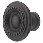 Beaded Round Cabinet Knob - 1 1/4