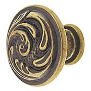 Small Swirl Cabinet Knob with Choice of Finish (item #RS-08CL-100456X)