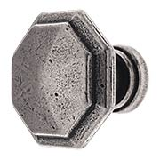 Small Octagonal Cabinet Knob in Old Iron (item #RS-08CL-100506X)