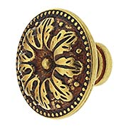Small Leaf Cabinet Knob with Choice of Finish (item #RS-08CL-100516X)