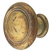 Ringed Edge Round Cabinet Knob - 1 3/16