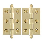 Pair of Ball Tip Cabinet Hinges - 2 1/2 x 1 3/4-Inch (item #RS-08DH-CHA2517X)