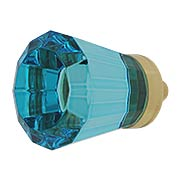 Brookmont Cyan Crystal Glass Cabinet Knob - 1-1/4