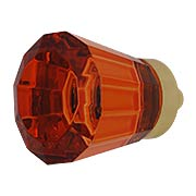 Brookmont Tangelo Crystal Glass Cabinet Knob - 1-1/4