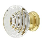 Deco Crystal-Glass Cabinet Knob - 1 1/4