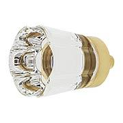 Forza Crystal-Glass Cabinet Knob - 1 1/4