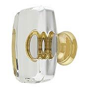 Windsor Crystal-Glass Cabinet Knob - 1 5/8
