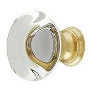 Providence Crystal Glass Cabinet Knob - 1 3/8