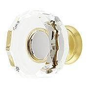 Lowell Crystal-Glass Cabinet Knob - 1 3/8