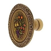 Bouquet of Fruit Cabinet Knob - 1 3/8