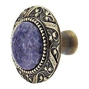 Victorian Cabinet Knob Inset with Blue Sodalite - 1 5/16