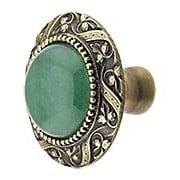 Victorian Cabinet Knob Inset with Green Aventurine - 1 5/16