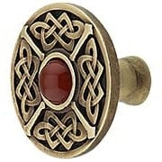 Celtic Jewel Knob Inset with Red Carnelian (item #RS-08NH-NHK-158-RCX)