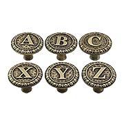 Alphabet Cabinet Knob (item #RS-08NH-NHK-180X)
