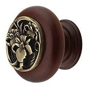 River Iris Wood Knob (item #RS-08NH-NHW-728X)