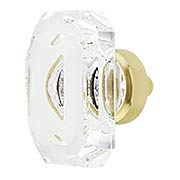 Medium Baguette Lead-Free Crystal Cabinet Knob (item #RS-08NW-CKBBCC40X)