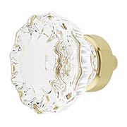 Fluted Lead-Free Crystal Cabinet Knob - 1 3/8