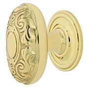 Decorative Oval Cabinet Knob - 1 1/8