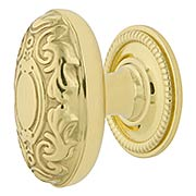 Decorative Oval Cabinet Knob - 1 1/8