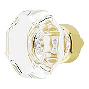Waldorf Lead-Free Crystal Cabinet Knob 1 3/8