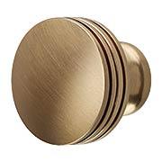 Menlo Park Ringed Round Cabinet Knob - 1 1/4