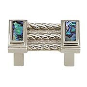 Symphony Drawer Pull with Imperial-Shell Inlay - 1 1/4