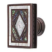 Avalon Bay Rectangular Cabinet Knob in Aged Dover - 1 13/16