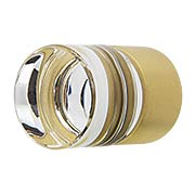 City Lights Cylinder Glass Cabinet Knob - 7/8
