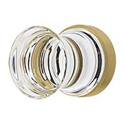 City Lights Concave Glass Knob - 1 1/8