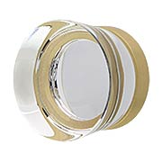 City Lights Flat Disc Glass Cabinet Knob - 1 3/8