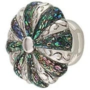 Round Decorative Cabinet Knob with Imperial Shell - 1 3/8