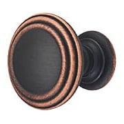 Reeded Round Cabinet Knob - 1 1/2
