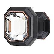 Crystal Emerald Cabinet Knob - 1 1/8