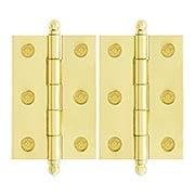 Pair of Premium Solid Brass Cabinet Hinges - 2 1/2