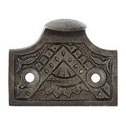 Oriental Pattern Sash Lift In Solid Cast Iron (item #W-09HH-CI500X)